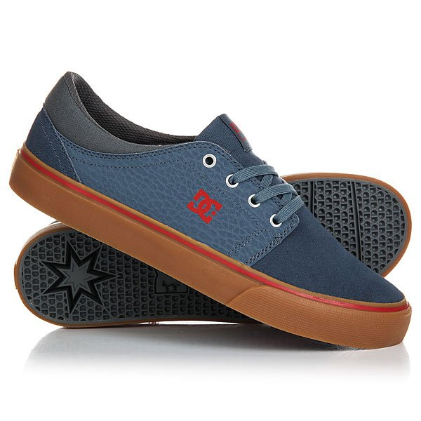 Кеды кроссовки низкие DC Trase S Navy/Gum dc shoes кеды dc heathrow se 11