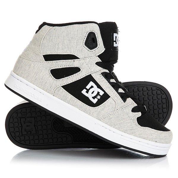 Кеды кроссовки высокие детские DC Rebound Tx Se Black/White/BlackУдобные высокие детские кеды DC Rebound SE созданы для комфортных прогулок, динамичных пробежек и максимального удобства. Высокая манжета ботинка и язычок заполнены вспененным материалом EVA для лучшей поддержки голеностопа, перфорация в области носа позволит ногам дышать, а классический скейтовый дизайн DC добавит стиля будущему скейтбордисту, с малых лет прививая вкус к уличной моде.Характеристики:Пластиковые люверсы дополнительной шнуровки. Мягкий вспененный язычок и манжета для дополнительной поддержки.Перфорация на носу. Нашивка с фирменным логотипом на язычке.Нанесенный сбоку логотип. Легкая и гибкая резиновая подошва. Фирменный цепкий протекторPill Pattern.<br><br>Цвет: серый,черный<br>Тип: Кеды высокие<br>Возраст: Детский