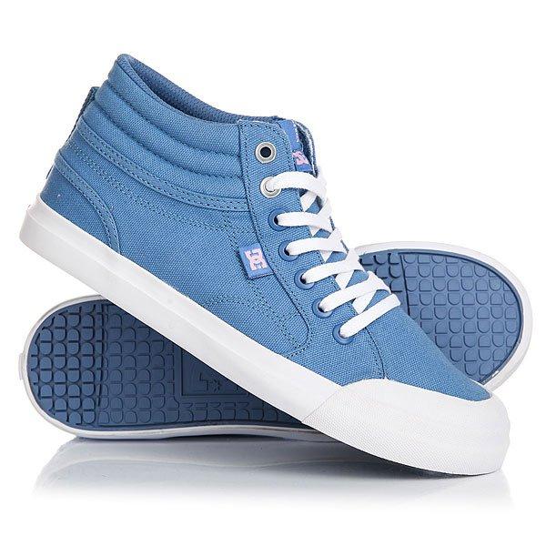 Кеды кроссовки высокие детские DC Evan Hi Tx Real Blue/White dc shoes кеды dc heathrow se 11
