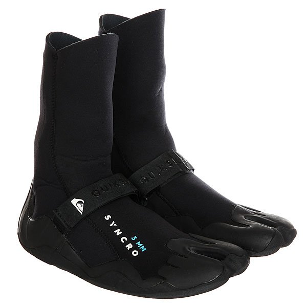Гидроботинки Quiksilver Qs Syncro 3m St BlackСуперэластичные неопреновые гидротапки с прочной, но гибкой подошвой с протектором станут надежной защитой Вашим ногам.Характеристики:Надеваются традиционным образом. Большой палец отделен перемычкой. Толщина неопрена: 3 мм.Мягкие и гибкие плоские швы Flatlock. Материал: суперэластичный стопроцентный Freemax. Мягкие фактурные подошвы.<br><br>Цвет: черный<br>Тип: Гидроботинки<br>Возраст: Взрослый<br>Пол: Мужской
