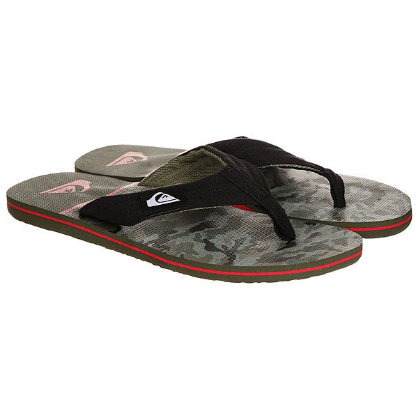 Вьетнамки Quiksilver Molokai Layback Black/Red/Green