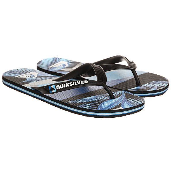 Вьетнамки Quiksilver Molokaislashprt Black/Blue/Grey вьетнамки quiksilver java wordmark black blue