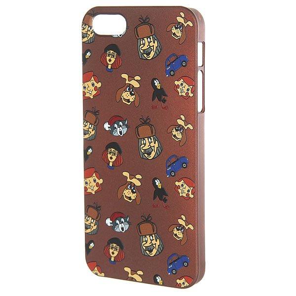 Чехол для iPhone Запорожец Простоквашино Лица Iphone 5 Коричневый<br><br>Цвет: коричневый<br>Тип: Чехол для iPhone<br>Возраст: Взрослый<br>Пол: Мужской