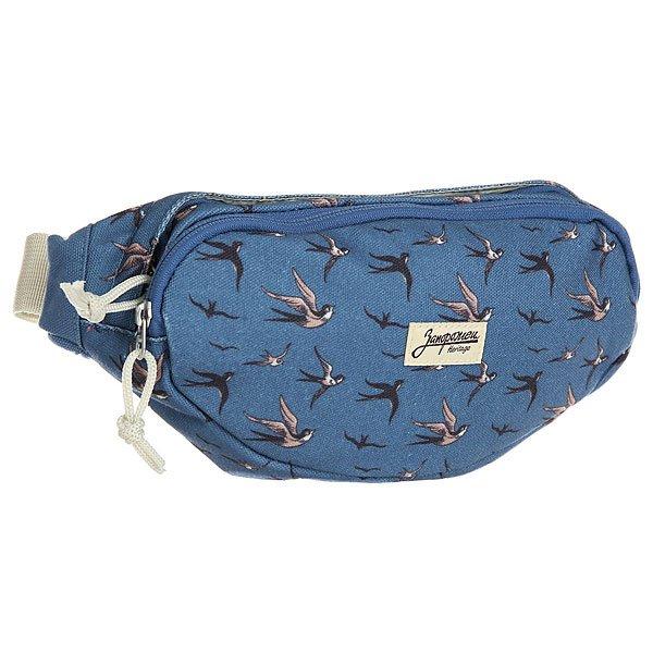 Сумка поясная Запорожец Canvas Waist Bag New BlueПоясная сумка от российской марки Запорожец из плотной ткани на основе натурального хлопка.Технические характеристики: Хлопковая ткань.Три кармана на молнии.Регулируемый поясной ремень с пластиковой застежкой.Оригинальный принт.<br><br>Цвет: синий<br>Тип: Сумка поясная<br>Возраст: Взрослый<br>Пол: Мужской