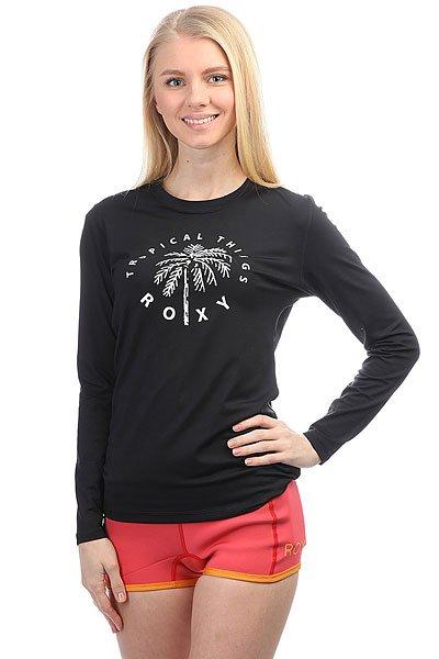 Гидрофутболка женская Roxy Palmsawayls AnthraciteГидрофутболка Palms Away с длинным рукавом из новой коллекции Roxy.Технические характеристики: Фактор защиты от УФ излучения – UPF 50.Мягкий и эластичный текстиль для плавания.Плоские швы.Свободный крой – просторный и удобный.<br><br>Цвет: черный<br>Тип: Гидрофутболка<br>Возраст: Взрослый<br>Пол: Женский