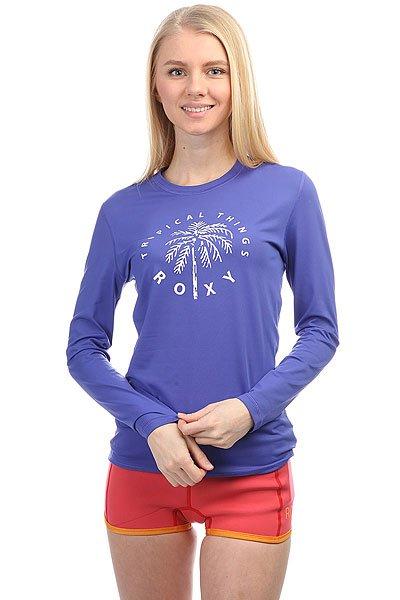Гидрофутболка женская Roxy Palmsawayls Royal BlueГидрофутболка Palms Away с длинным рукавом из новой коллекции Roxy.Технические характеристики: Фактор защиты от УФ излучения – UPF 50.Мягкий и эластичный текстиль для плавания.Плоские швы.Свободный крой – просторный и удобный.<br><br>Цвет: синий<br>Тип: Гидрофутболка<br>Возраст: Взрослый<br>Пол: Женский