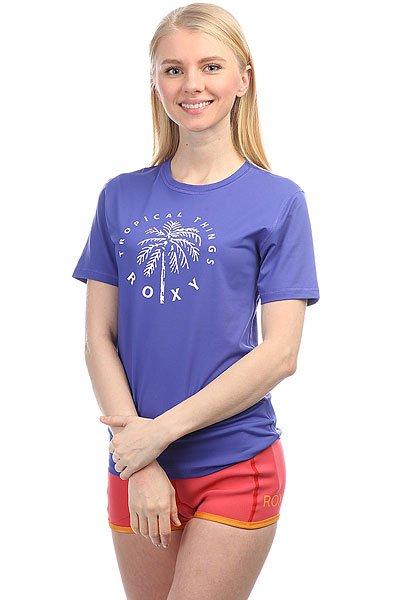 Гидрофутболка женская Roxy Palmsawayss Royal BlueГидрофутболка Palms Away с коротким рукавом из новой коллекции Roxy.Технические характеристики: Фактор защиты от УФ излучения – UPF 50.Мягкий и эластичный текстиль для плавания.Плоские швы.Свободный крой – просторный и удобный.<br><br>Цвет: синий<br>Тип: Гидрофутболка<br>Возраст: Взрослый<br>Пол: Женский