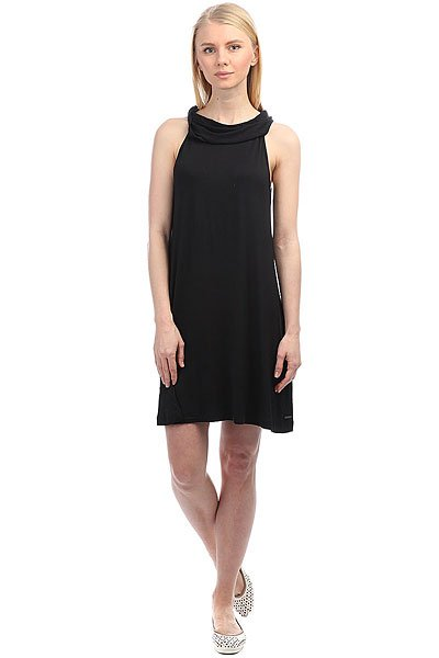 Платье женское Roxy Seeyousomesolid Anthracite<br><br>Цвет: черный<br>Тип: Платье<br>Возраст: Взрослый<br>Пол: Женский