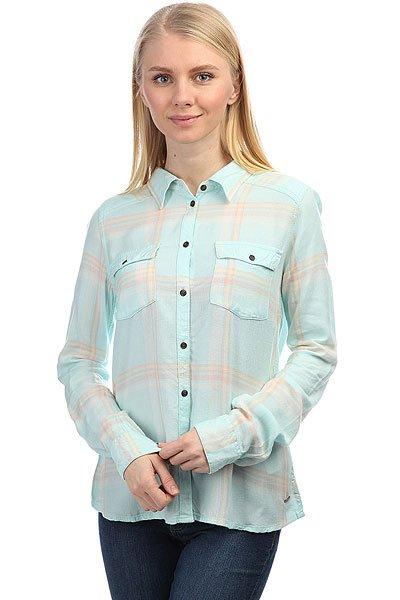 Рубашка в клетку женска Roxy Plaidonyou Bleached Aqua Leti P<br><br>Цвет: голубой<br>Тип: Рубашка в клетку<br>Возраст: Взрослый<br>Пол: Женский