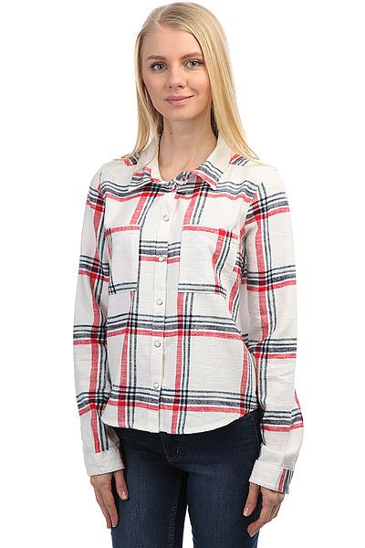 Блузка женская Roxy Plaidparty Marshmallow Leti Pla