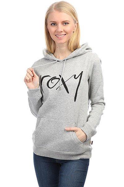 Толстовка кенгуру женская Roxy Cruisernightb Heritage Heather<br><br>Цвет: серый<br>Тип: Толстовка кенгуру<br>Возраст: Взрослый<br>Пол: Женский