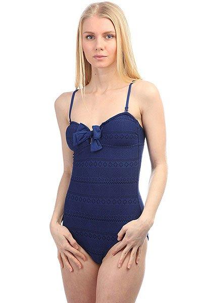 бюстгальтер женский roxy tombly bra blue depths Купальник женский Roxy Drop Diam 1pce J Blue Depths