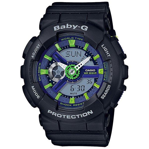 Кварцевые часы женские Casio G-Shock Baby-g 67683 Ba-110pp-1aМногофункциональные наручные часы в корпусе из полимерного пластика.Технические характеристики: Светодиодная подсветка.Ударопрочная конструкция защищает от ударов и вибрации.Функция мирового времени.Функция секундомера- 1/100 сек. - 24 часа.Таймер - 1/1 мин. - 24 часа.5 ежедневных будильников.Функция повтора будильника.Включение/выключение звука кнопок.Автоматический календарь.12/24-часовое отображение времени.Минеральное стекло.Корпус из полимерного пластика.Ремешок из полимерного материала.Срок службы аккумулятора 2 года.<br><br>Цвет: черный<br>Тип: Кварцевые часы<br>Возраст: Взрослый<br>Пол: Женский