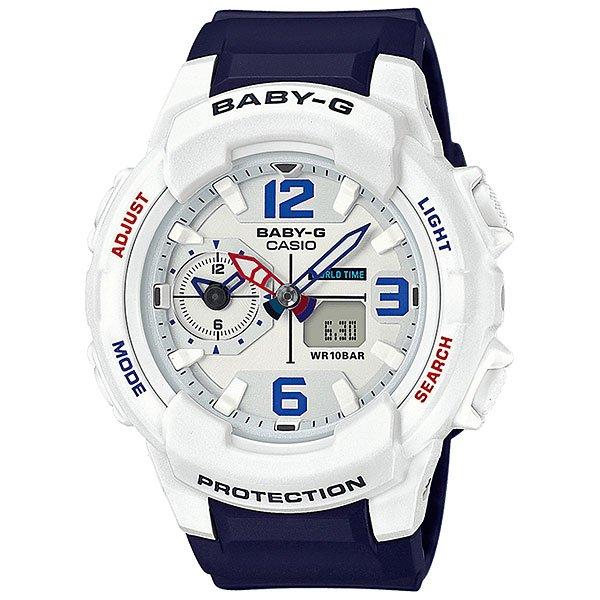 Кварцевые часы женские Casio G-Shock Baby-g 67690 Bga-230sc-7bКомпактные женские часы в дизайне без лишних деталей. Все необходимые функции собраны в одной модели на каждый день.Технические характеристики: Светодиодная подсветка.Ударопрочная конструкция защищает от ударов и вибрации.Функция мирового времени.Dual Time Display.Функция секундомера - 1 час.Таймер - 1/1 мин. - 1 час.Ежедневный будильник.Включение/выключение звука кнопок.Функция перемещения стрелок.Автоматический календарь.12/24-часовое отображение времени.Минеральное стекло.Корпус из полимерного пластика.Ремешок из полимерного материала.Срок службы аккумулятора 2 года.<br><br>Цвет: синий,белый<br>Тип: Кварцевые часы<br>Возраст: Взрослый<br>Пол: Женский