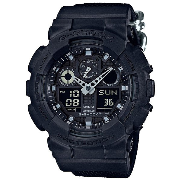 Кварцевые часы Casio G-Shock 67662 Ga-100bbn-1a casio g shock ga 100l 1a