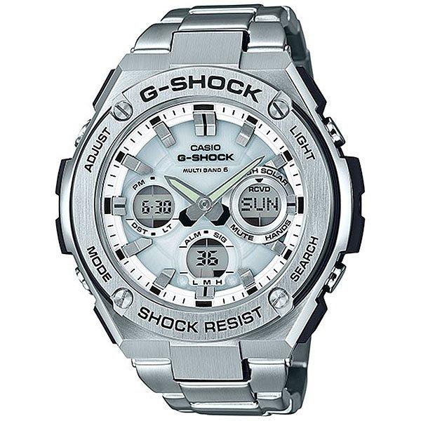 Кварцевые часы Casio G-Shock 67678 Gst-w110d-7aЧасы, в которых объединились классика и спортивный стиль, удобные функции, а также тонкое сочетание пластика и нержавеющей стали.Технические характеристики: Полностью автоматическая светодиодная подсветка.Ударопрочная конструкция защищает от ударов и вибрации.Солнечная батарейка.Прием радиосигнала (Европа, США, Япония, Китай).Неоновый дисплей.Функция мирового времени.Функция секундомера - 1/100 сек. - 1 час.Таймер – 1/1 сек. – 100 минут.5 ежедневных будильников.Включение/выключение звука кнопок.Функция перемещения стрелок.Автоматический календарь.12/24-часовое отображение времени.Минеральное стекло.Корпус из нержавеющей стали и полимерного пластика.Браслет из нержавеющей стали.Предохранительная защелка.Индикатор уровня заряда батарейки.<br><br>Цвет: серый<br>Тип: Кварцевые часы<br>Возраст: Взрослый<br>Пол: Мужской