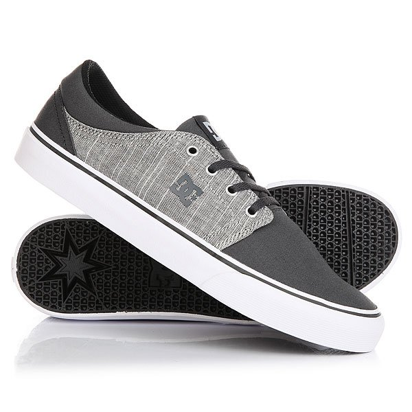 Кеды кроссовки низкие DC Trase Tx Se Charcoal Grey dc shoes кеды dc council se navy camel 8
