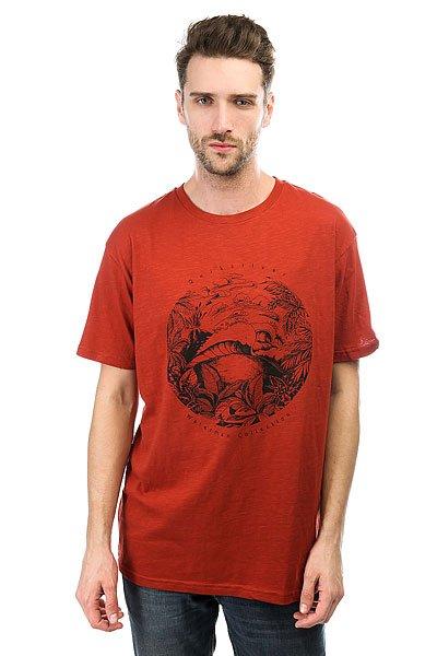 Футболка Quiksilver Tenerif Red Ochre<br><br>Цвет: коричневый<br>Тип: Футболка<br>Возраст: Взрослый<br>Пол: Мужской