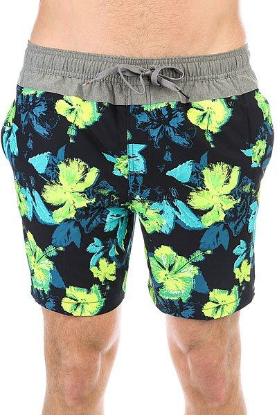Шорты пляжные Quiksilver Junglfevvol17 Safety Yellow<br><br>Цвет: синий,зеленый<br>Тип: Шорты пляжные<br>Возраст: Взрослый<br>Пол: Мужской