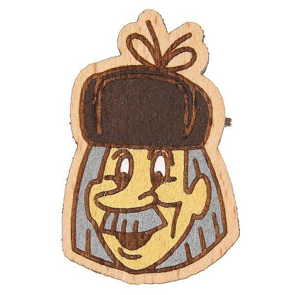 Значок Запорожец Простоквашино Почтальон Печкин<br><br>Цвет: коричневый<br>Тип: Значок<br>Возраст: Взрослый<br>Пол: Мужской