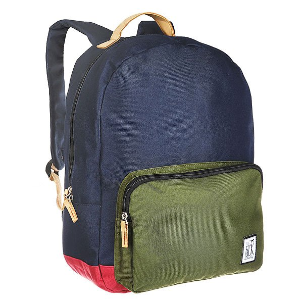 Рюкзак городской The Pack Society Classic Backpack Midnight Blue/Forest Green/Burgundy-26