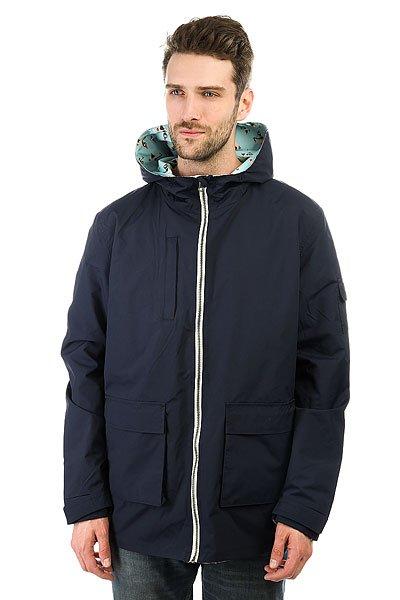 Куртка Запорожец Two Way Jacket Navy/BlueДвухсторонняя куртка российского бренда Запорожец, выполнена из нейлоновой ткани с утепленной подкладкой. Слегка удлинённый прямой силуэт, застежка на молнии, множество карманов. Одна сторона куртки представлена в однотонной расцветке, а вторая в яркой, украшенной оригинальным патерном на всей поверхности. Универсальная вещь которая будет уместна в любом образе.Характеристики:Двухсторонняя модель. Капюшон. Нейлоновая ткань. Утепленная подкладка. Удлиненный крой. Застежка на молнии. Множество карманов.<br><br>Цвет: синий,голубой<br>Тип: Куртка<br>Возраст: Взрослый<br>Пол: Мужской