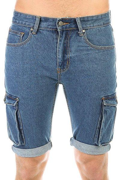Шорты джинсовые Запорожец Pocket Denim Short Zap Regular Flex Raw Blue<br><br>Цвет: ,синий<br>Тип: Шорты джинсовые<br>Возраст: Взрослый<br>Пол: Мужской