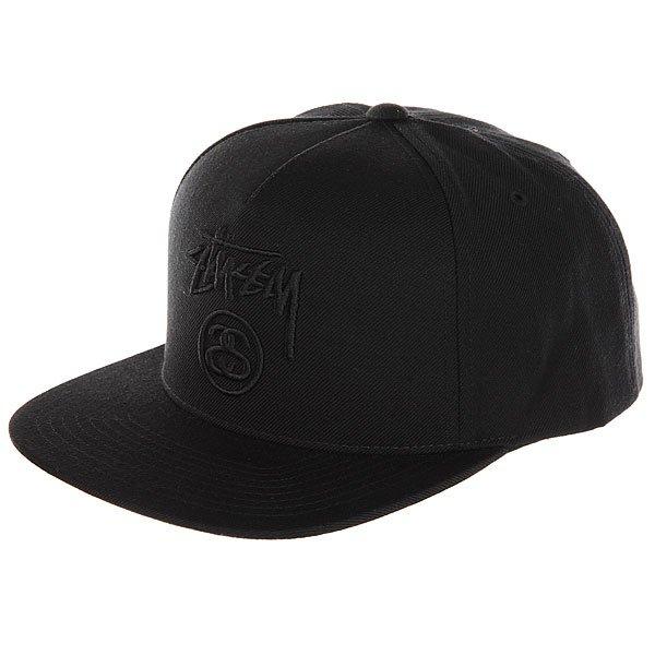 Бейсболка с прямым козырьком Stussy Stock Lock Cap Black