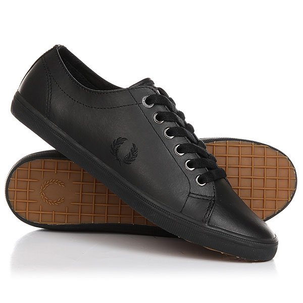 Кеды кроссовки низкие Fred Perry Kingston Leather Black 116 43 650 41 001000[