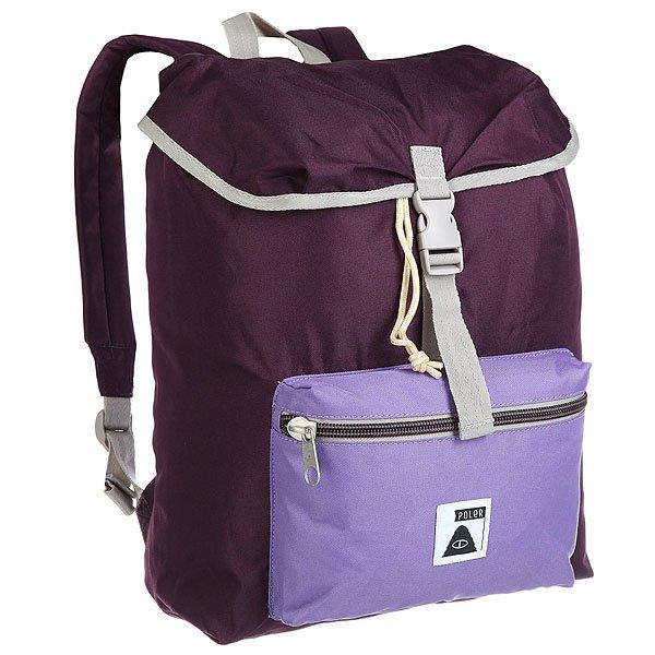 Рюкзак туристический Poler Field Pack PlumПростой рюкзак для студентов или путешественников налегке.Характеристики:Ткань Campdura. Прочные ремни из нейлона. Застежка Poler. Основное отделение с клапаном и застежкой на шнурке-утяжке. Внутренний карман для ноутбука. Внешний карман на молнии для разных мелочей. Мягкие плечевые ремни и ручка. Нашивка с логотипом Poler.<br><br>Цвет: фиолетовый<br>Тип: Рюкзак туристический<br>Возраст: Взрослый