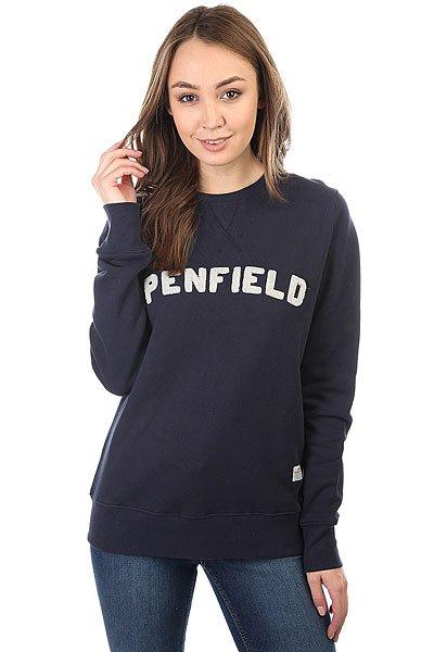 Толстовка свитшот женская Penfield Brookport Navy<br><br>Цвет: синий<br>Тип: Толстовка свитшот<br>Возраст: Взрослый<br>Пол: Женский