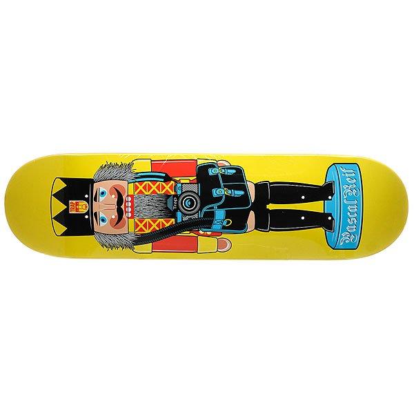 Дека для скейтборда для скейтборда Trap PASCAL REIF NUTCRACKER Yellow 32.125 x 8.375 (21.3 см)Ширина деки: 8.375 (21.3 см)    Длина деки: 32.125 (81.6 см)    Количество слоев: 7<br><br>Цвет: синий,оранжевый<br>Тип: Дека для скейтборда<br>Возраст: Взрослый<br>Пол: Мужской