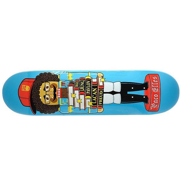 Дека для скейтборда для скейтборда Trap PACO ELLES NUTCRACKER Light Blue/Multi 32 x 8.125 (20.6 см)Ширина деки: 8.125 (20.6 см)    Длина деки: 32 (81.3 см)    Количество слоев: 7<br><br>Цвет: голубой,мультиколор<br>Тип: Дека для скейтборда<br>Возраст: Взрослый<br>Пол: Мужской