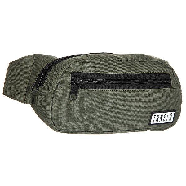 Сумка поясная Transfer Ninja KhakiКомпактная сумка на пояс с  карманами и регулируемым ремешком. Универсальный дизайн для спорта и активного отдыха.Технические характеристики: Одно отделение и два внешних кармана на молнии.Регулируемый ремешок с пластиковой застежкой.Компактный дизайн украшенный логотипом бренда Transfer.<br><br>Цвет: зеленый<br>Тип: Сумка поясная<br>Возраст: Взрослый<br>Пол: Мужской