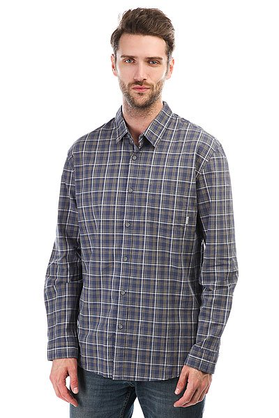 Рубашка в клетку Quiksilver Everydacheckls Check Night Shadow<br><br>Цвет: синий<br>Тип: Рубашка в клетку<br>Возраст: Взрослый<br>Пол: Мужской