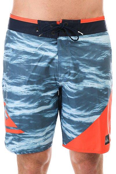 Шорты пляжные Quiksilver Newwave19 Navy Blazer<br><br>Цвет: синий,оранжевый<br>Тип: Шорты пляжные<br>Возраст: Взрослый<br>Пол: Мужской