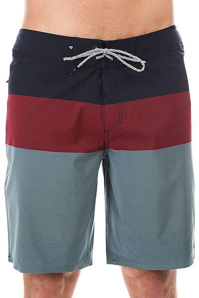 Шорты пляжные Quiksilver Blocve20 Navy Blazer<br><br>Цвет: синий,бордовый<br>Тип: Шорты пляжные<br>Возраст: Взрослый<br>Пол: Мужской