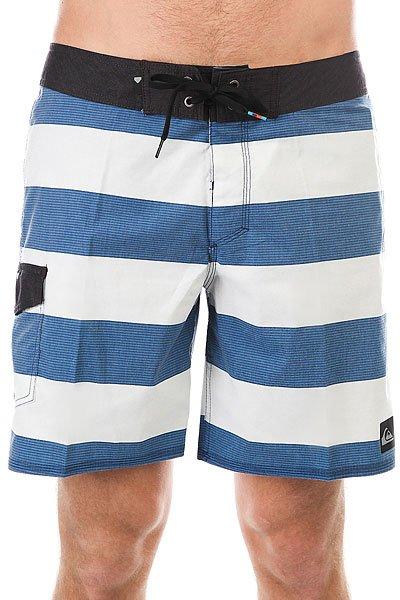 Шорты пляжные Quiksilver Everydbrigg18 Estate Blue<br><br>Цвет: белый,синий<br>Тип: Шорты пляжные<br>Возраст: Взрослый<br>Пол: Мужской