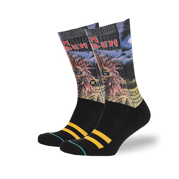 Носки высокие Stance Foundation Iron Maiden Black носки высокие stance safety meeting black