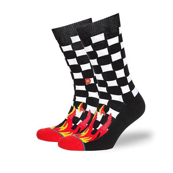Носки высокие Stance Anthem Chex Black<br><br>Цвет: черный,красный,белый<br>Тип: Носки высокие<br>Возраст: Взрослый<br>Пол: Мужской