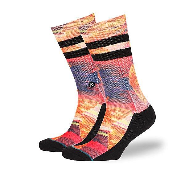 Носки средние Stance Side Step Stranded Multi<br><br>Цвет: черный,оранжевый<br>Тип: Носки средние<br>Возраст: Взрослый<br>Пол: Мужской