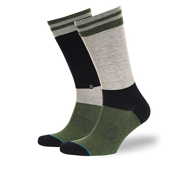 Носки средние Stance Reserve Daubeck Green<br><br>Цвет: зеленый,синий,серый<br>Тип: Носки средние<br>Возраст: Взрослый<br>Пол: Мужской