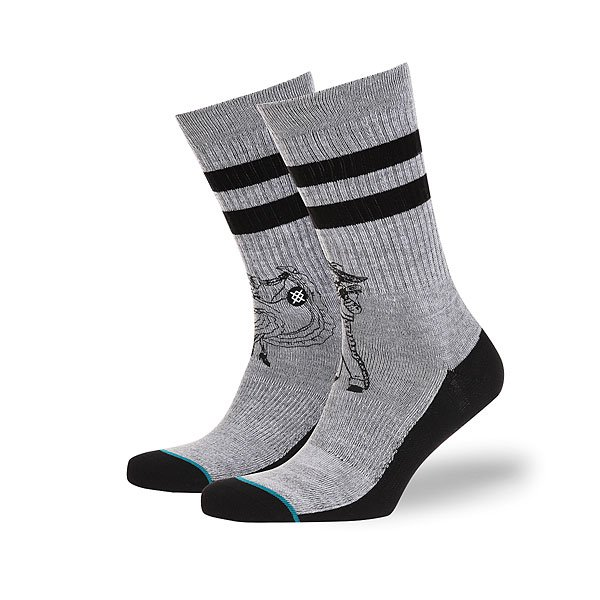 Носки средние Stance Side Step Flamencos Real Grey