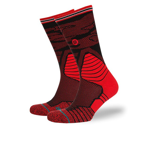 Носки средние Stance Basketball Performance Daybreak Red<br><br>Цвет: черный,красный<br>Тип: Носки средние<br>Возраст: Взрослый<br>Пол: Мужской