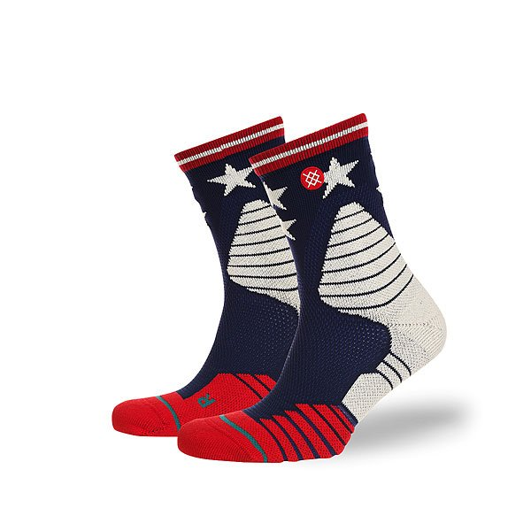 Носки средние Stance Basketball Performance Floor General Navy<br><br>Цвет: красный,серый,синий<br>Тип: Носки средние<br>Возраст: Взрослый<br>Пол: Мужской