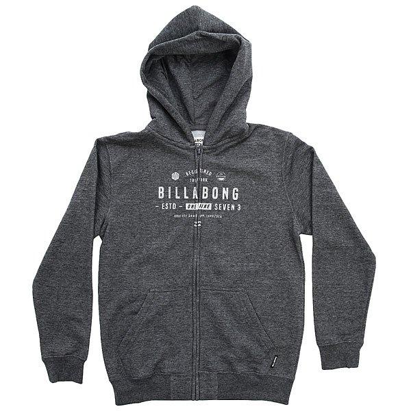 Толстовка классическая детская Billabong Watcher Zip Hood Dark Grey Heath толстовка мужска billabong chopper hood 2016 neutral grey m