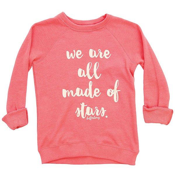 Толстовка классическая детская Billabong Sandy Cheeks Pink Crush<br><br>Цвет: розовый<br>Тип: Толстовка классическая<br>Возраст: Детский