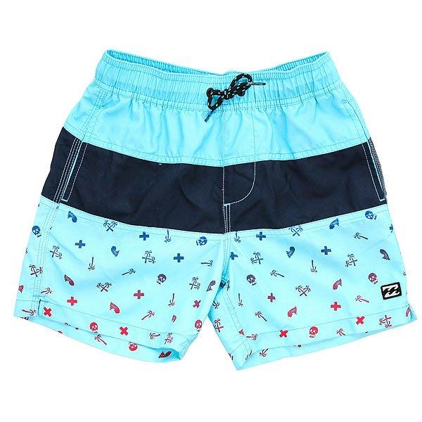 Шорты пляжные детские Billabong Tribong Printed 1 Aqua<br><br>Цвет: голубой,синий<br>Тип: Шорты пляжные<br>Возраст: Детский