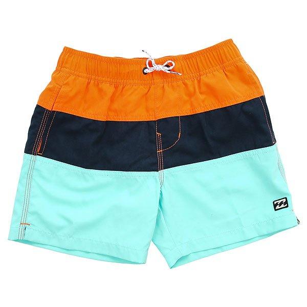 Шорты пляжные детские Billabong Tribong Boys 13 Orange<br><br>Цвет: оранжевый,синий,голубой<br>Тип: Шорты пляжные<br>Возраст: Детский