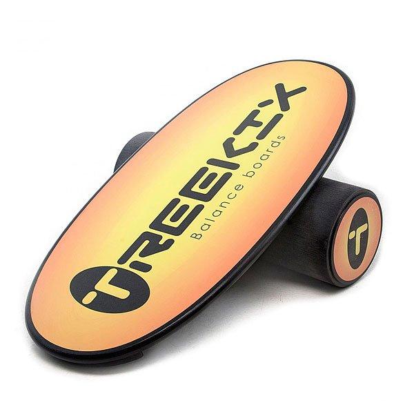 Балансборд Treekix Classic Promo ApricotЕсли Вы фанат сноубординга, сёрфинга или скейтбординга и хотите всегда оставаться в форме, то балансборд поможет Вам в этом. Это идеальный тренажер дляпроработки икроножных мышц, бицепса и квадрицепса бедра, ягодиц, мышцшеи и спины. С помощью балансборда Вы улучшите чувство равновесия и ощущение собственного тела,сохраните ощущение доски под ногами, что немаловажно для поклонников сезонных видов спорта. Балансборд - отличная альтернатива доске, когда снег и волны так далеко.Характеристики:Доска имеетспециальное антискользящее покрытие, которое не стирается, не царапается и сохраняет отличный вид. Нижняя часть борда покрыта специальной краской с добавлением полимеров, полностью исключающих проскальзывание. Ролимеет особую фактуру, снижающую трениеи не царапающее покрытие. Рол имеет 4 ребра жесткости – по 2 штуки основных и дополнительных. Стопперы закреплены дважды – не только клеем, но и саморезами.Качественный рисунок на доске. Вес комплекта: 6,5 кг.<br><br>Цвет: черный,оранжевый<br>Тип: Балансборд